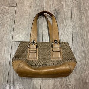Coach signature top handle purse